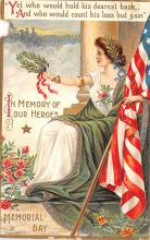 pat200337 - Patriotic Post Card Old Vintage Antique Postcard