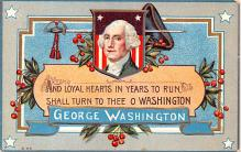 pat200341 - Patriotic Post Card Old Vintage Antique Postcard