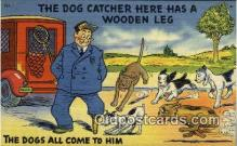 peg001001 - The Dog Catcher Peg Leg Postcard Postcards