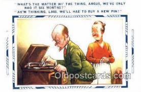 pgh001020 - Phonograph, record player, postcard, postcards