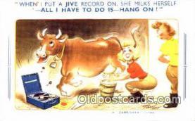 pgh001025 - Phonograph, record player, postcard, postcards