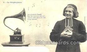 pgh001026 - Phonograph, record player, postcard, postcards