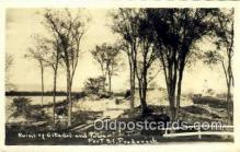 pht001260 - Ruins of Citadel and tower, Ft. St. Frederick UnKnown Location Real Photo Postcard Postcards