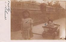 pht100010 - People and Children Photographed on Postcard, Old Vintage Antique Post Card