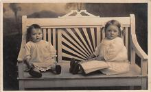 pht100033 - People and Children Photographed on Postcard, Old Vintage Antique Post Card