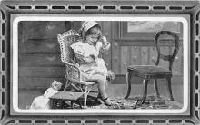 pht100087 - People and Children Photographed on Postcard, Old Vintage Antique Post Card