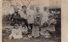 pht100108 - People and Children Photographed on Postcard, Old Vintage Antique Post Card
