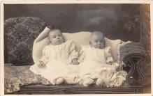 pht100123 - People and Children Photographed on Postcard, Old Vintage Antique Post Card