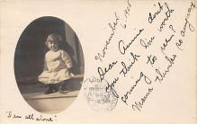 pht100125 - People and Children Photographed on Postcard, Old Vintage Antique Post Card