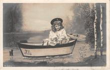 pht100133 - People and Children Photographed on Postcard, Old Vintage Antique Post Card