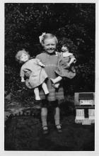pht100169 - People and Children Photographed on Postcard, Old Vintage Antique Post Card