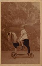 pht100183 - People and Children Photographed on Postcard, Old Vintage Antique Post Card