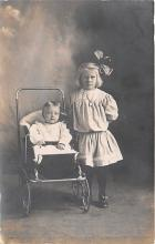 pht100203 - People and Children Photographed on Postcard, Old Vintage Antique Post Card