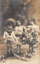 pht100210 - People and Children Photographed on Postcard, Old Vintage Antique Post Card