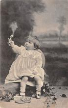 pht100218 - People and Children Photographed on Postcard, Old Vintage Antique Post Card