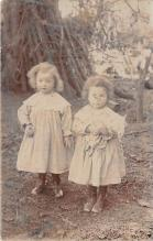 pht100227 - People and Children Photographed on Postcard, Old Vintage Antique Post Card