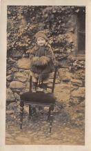 pht100230 - People and Children Photographed on Postcard, Old Vintage Antique Post Card
