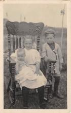 pht100261 - People and Children Photographed on Postcard, Old Vintage Antique Post Card