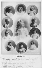 pht100282 - People and Children Photographed on Postcard, Old Vintage Antique Post Card