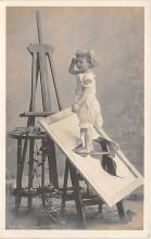 pht100289 - People and Children Photographed on Postcard, Old Vintage Antique Post Card