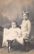 pht100313 - People and Children Photographed on Postcard, Old Vintage Antique Post Card