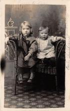 pht100318 - People and Children Photographed on Postcard, Old Vintage Antique Post Card