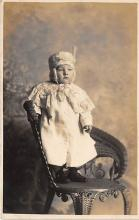 pht100323 - People and Children Photographed on Postcard, Old Vintage Antique Post Card