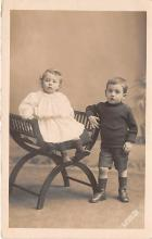 pht100325 - People and Children Photographed on Postcard, Old Vintage Antique Post Card