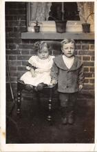 pht100331 - People and Children Photographed on Postcard, Old Vintage Antique Post Card