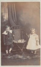 pht100351 - People and Children Photographed on Postcard, Old Vintage Antique Post Card