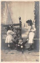 pht100358 - People and Children Photographed on Postcard, Old Vintage Antique Post Card