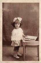 pht100367 - People and Children Photographed on Postcard, Old Vintage Antique Post Card