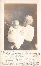 pht100398 - People and Children Photographed on Postcard, Old Vintage Antique Post Card