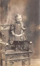 pht100400 - People and Children Photographed on Postcard, Old Vintage Antique Post Card