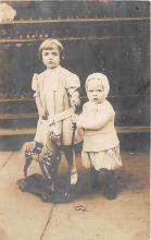 pht100416 - People and Children Photographed on Postcard, Old Vintage Antique Post Card