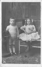 pht100439 - People and Children Photographed on Postcard, Old Vintage Antique Post Card