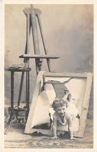 pht100448 - People and Children Photographed on Postcard, Old Vintage Antique Post Card