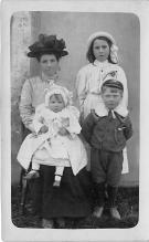 pht100531 - People and Children Photographed on Postcard, Old Vintage Antique Post Card