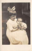 pht100561 - People and Children Photographed on Postcard, Old Vintage Antique Post Card