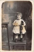 pht100655 - People and Children Photographed on Postcard, Old Vintage Antique Post Card
