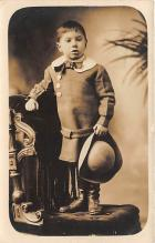 pht100660 - People and Children Photographed on Postcard, Old Vintage Antique Post Card