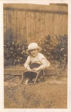 pht100661 - People and Children Photographed on Postcard, Old Vintage Antique Post Card