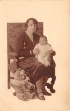 pht100677 - People and Children Photographed on Postcard, Old Vintage Antique Post Card