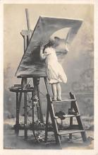 pht100702 - People and Children Photographed on Postcard, Old Vintage Antique Post Card