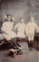 pht100714 - People and Children Photographed on Postcard, Old Vintage Antique Post Card