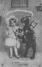 pht100720 - People and Children Photographed on Postcard, Old Vintage Antique Post Card