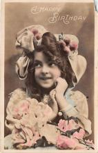 pht200007 - People and Children Photographed on Postcard, Old Vintage Antique Post Card