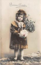 pht200020 - People and Children Photographed on Postcard, Old Vintage Antique Post Card