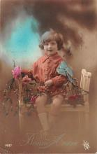 pht200029 - People and Children Photographed on Postcard, Old Vintage Antique Post Card