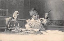 pht200061 - People and Children Photographed on Postcard, Old Vintage Antique Post Card